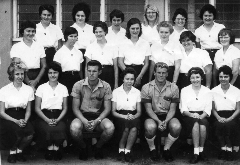 Judith fourth from the left in the back row, and her school friends, my best friend was Jaye second from the left in the back row. 1962 Senior Nambour High School. One of the boys joined the diplomatic service.This was Senior or Sub Senior.