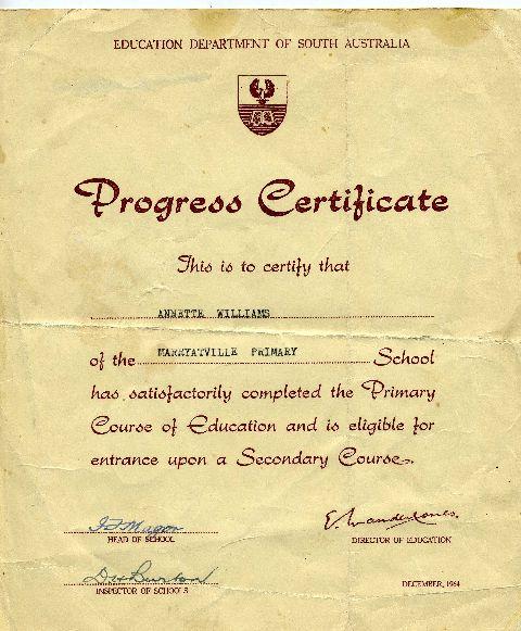 Primary School Certificate